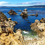 Point Lobos Whalers Cove- Seascape Art Art Print