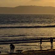 Point Loma California Surfers Art Print