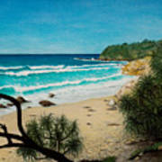 Point Perry Coolum Beach Art Print
