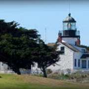 Point Pinos Lighthouse In Pacific Grove, California Art Print