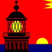 Point Queen Charlotte Light House Art Print by Asbjorn Lonvig