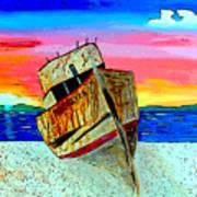 Point Reyes Wreck D2 Art Print