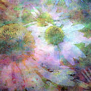 Pointillism Coneflowers 3571 Idp_3 Art Print