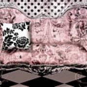 Poitrine Rose Art Print