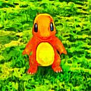 Pokemon Go Charmander - Da Art Print