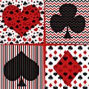Poker In Four Art Print