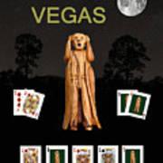 Poker Vegas Scream Art Print