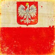 Poland Flag Print by Setsiri Silapasuwanchai