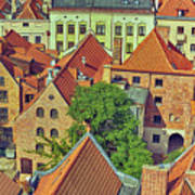 Poland, Torun, Houses. Art Print