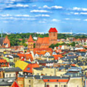 Poland, Torun, Urban Landscape. Art Print