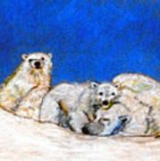 Polar Bears With Love Art Print