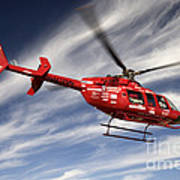 Polar First Helicopter Art Print