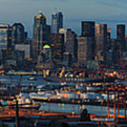 Polar Pioneer Docked In Seattle Art Print