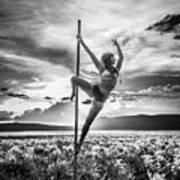 Pole Dance Reach Hdr Art Print