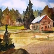 Polebridge Mt Cabin Art Print