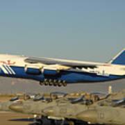 Polet Antonov An-124 Ra-82080 Taking Off Phoenix-mesa Gateway Airport January 15 2011 Art Print