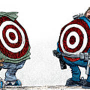 Police And Black Folks Are Targets Art Print