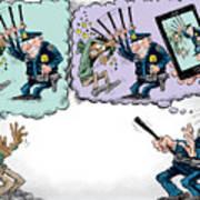 Police Beatings And Phone Videos Art Print