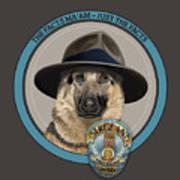 Police Dog Art Print