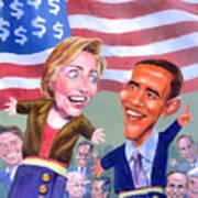 Political Puppets Art Print