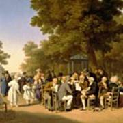 Politicians In The Tuileries Gardens Art Print by Louis Leopold Boilly