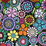 Polka Dot Bouquet Art Print