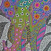 Polka Dot Ganesha Art Print by Vijay Sharon Govender