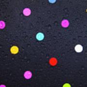 Polka Dot Umbrella Art Print