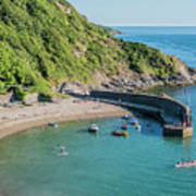 Polkerris Beach And Harbour Art Print