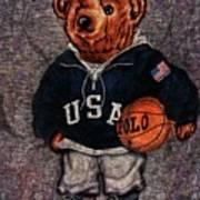 Polo Bear Sport Art Print
