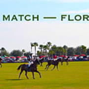 Polo Match Florida Art Print