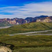 Polychrome Pass Area Denali National Park Four Art Print