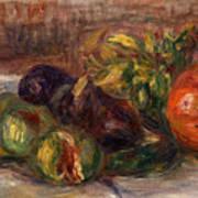 Pomegranate And Figs Art Print