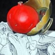 Pomegranate And Pot Print by Kostas Koutsoukanidis