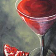 Pomegranate Martini  Art Print