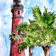 Ponce De Leon Inlet Florida Lighthouse Art Art Print