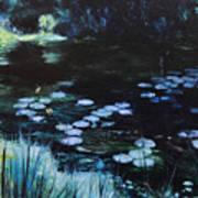 Pond At Port Meirion Art Print