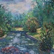 Pond At Tower Grove Park Art Print