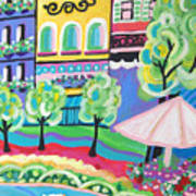 Pond Garden Boutiques On The Avenue Art Print