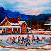 Pond Hockey Art Print