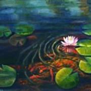 Pond Jewels Art Print