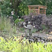 Pond Statue Art Print