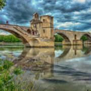 Pont D'avignon France_dsc6031_16 Art Print