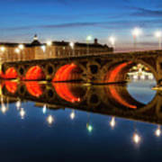 Pont Neuf In Toulouse Art Print