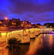 Pont Neuf At Night Art Print