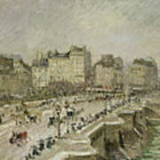 Pont Neuf Snow Effect Art Print