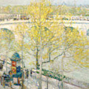 Pont Royal Paris Art Print by Childe Hassam