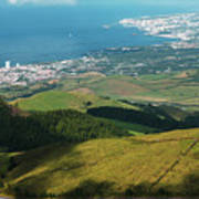 Ponta Delgada And Lagoa Art Print