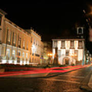 Ponta Delgada At Night Art Print