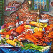 Pontchartrain Crabs Art Print